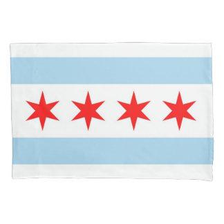 Patriotische Single-Kissenbezugflagge von Chicago, Kissenbezug
