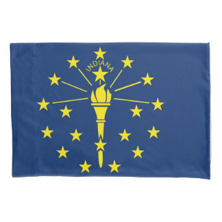 Patriotische Single-Kissenbezugflagge von Indiana, Kissenbezug