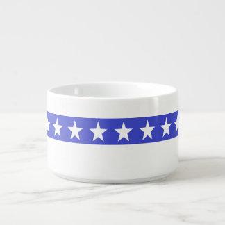 Patriotische Stern-Chili-Schüssel Schüssel