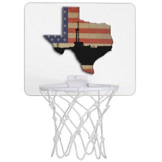Patriotische Texas-Erdölbohrungs-Anlage Mini Basketball Ring