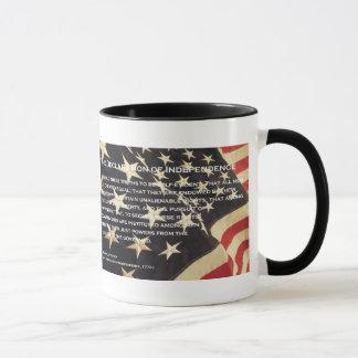 """Patriotische """"Unabhängigkeitserklärung"""" Tasse"""