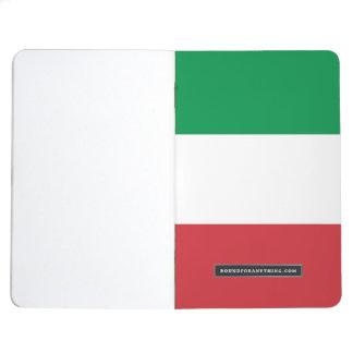 Patriotische Zeitschrift mit Flagge von Italien Tagebücher