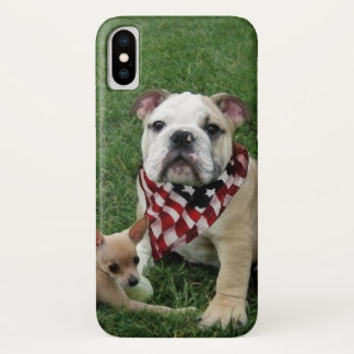 Patriotischer Bulldogge iPhone X Fall iPhone X Hülle