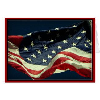 Patriotischer Flagge-Veteranen-Tag Notecard Karte