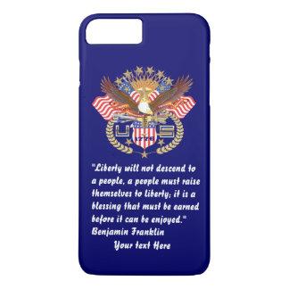 Patriotischer Freiheits-Friedenstiefes Marine-Blau iPhone 7 Plus Hülle