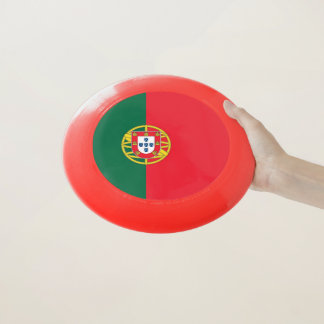 Patriotischer Frisbee mit Flagge von Portugal