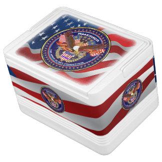 Patriotischer oder Veteranen-Iglu 12 kann cooler Kühlbox