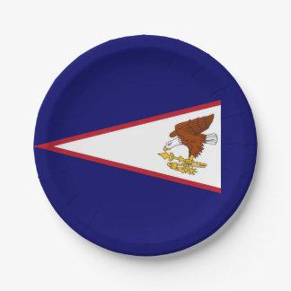 Patriotischer Pappteller mit Flagge von American