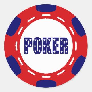 PATRIOTISCHER POKER-CHIP RUNDER AUFKLEBER