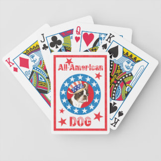 Patriotisches Boston Terrier Bicycle Spielkarten