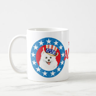 Patriotisches Eskie Tasse