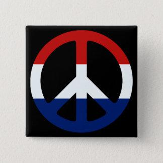 Patriotisches Friedenssymbol Quadratischer Button 5,1 Cm