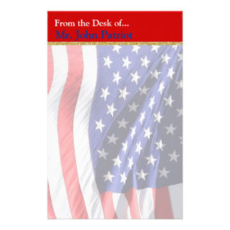 Patriotisches Geschenk der Flagge-| für Soldaten Briefpapier