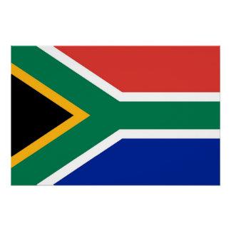 Patriotisches Plakat mit Flagge von Südafrika Poster