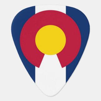 Patriotisches Plektrum mit Flagge von Colorado