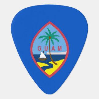 Patriotisches Plektrum mit Flagge von Guam