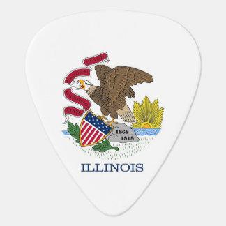 Patriotisches Plektrum mit Flagge von Illinois