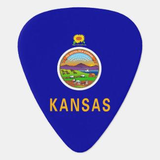 Patriotisches Plektrum mit Flagge von Kansas
