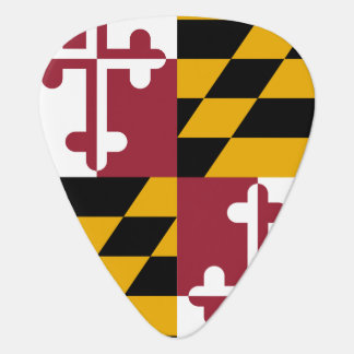 Patriotisches Plektrum mit Flagge von Maryland