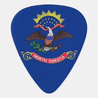 Patriotisches Plektrum mit Flagge von North Dakota