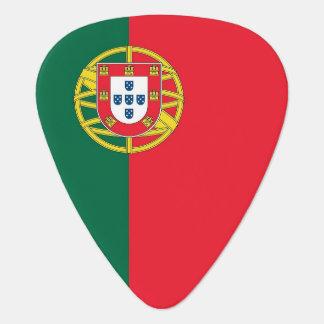 Patriotisches Plektrum mit Flagge von Portugal