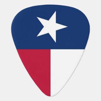Patriotisches Plektrum mit Flagge von Texas