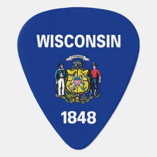 Patriotisches Plektrum mit Flagge von Wisconsin