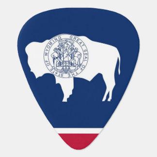 Patriotisches Plektrum mit Flagge von Wyoming