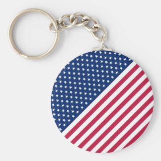 Patriotisches rotes blaues Weiß US spielt Streifen Schlüsselanhänger