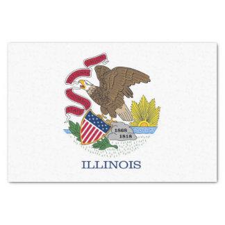 Patriotisches Seidenpapier mit Flagge von Illinois