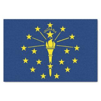 Patriotisches Seidenpapier mit Flagge von Indiana