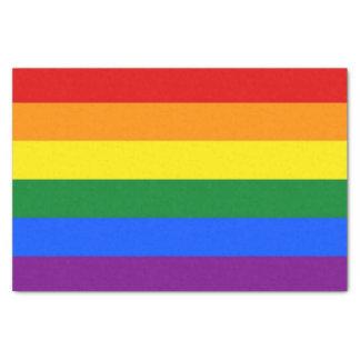 Patriotisches Seidenpapier mit Regenbogenflagge