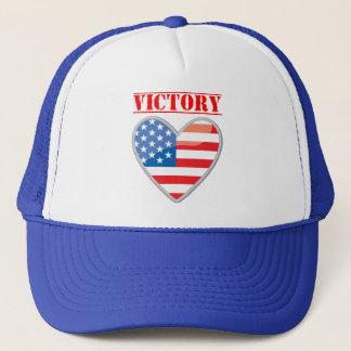 Patriotisches Sieg-Herz Vereinigte Staaten Truckerkappe