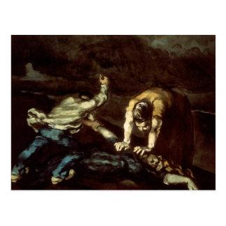 Paul Cezanne - der Mord Postkarte