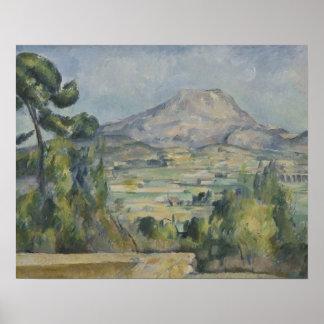 Paul Cezanne - Montagne Heiliges-Victoire Poster