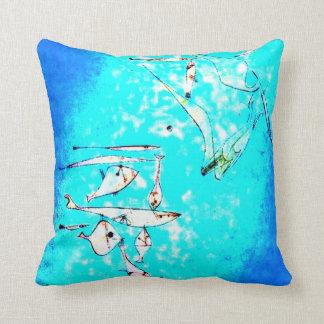 Paul Klee-Kunst: Fisch-Bild, paintiing durch Klee Zierkissen