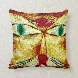 Paul Klee-Kunst: Katze und Vogel Kissen