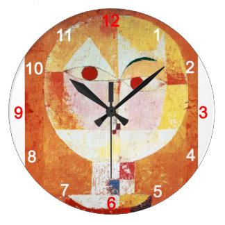 """Paul Klee , """" Senecio """" Große Wanduhr"""