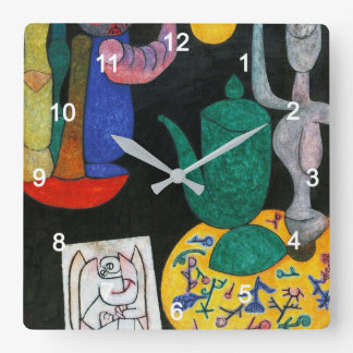 "Paul Klee , "" without title (last still life) "" Quadratische Wanduhr"