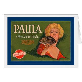 Paula-Marke von Santa Paula Karte