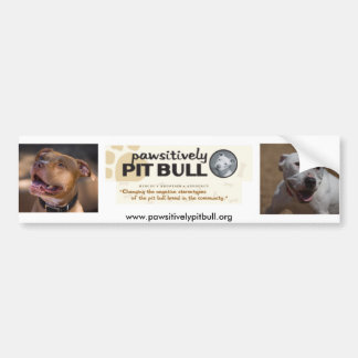 Pawsitively Pitbull Autoaufkleber