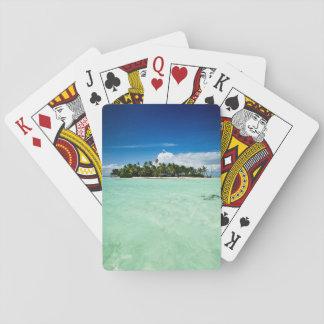 Pazifische Insel mit Palme-Pokerplattform Spielkarten