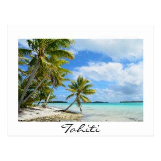 Pazifisches Palm Beach auf Tahiti-Postkarte Postkarte