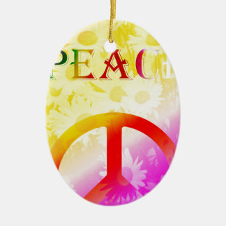 Peace Keramik Ornament