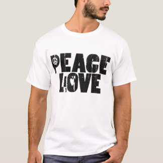 Peace&Love Striped T-Stück T-Shirt