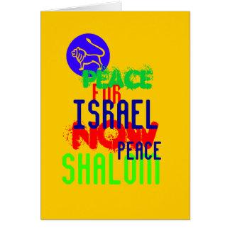 PEACE/SHALOM GRUßKARTE