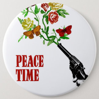 Peace Time! Runder Button 15,3 Cm