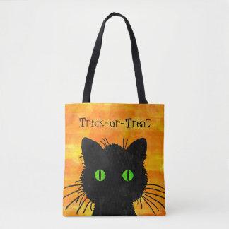 Peekaboo-schwarze Katzen-Orangen-Süßes sonst