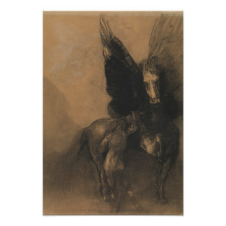 Pegasus und Bellerophon Poster
