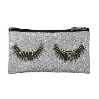 Peitschen-Make-upkünstler-moderner silberner Makeup-Tasche